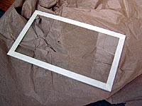 Оклейка донного стекла по краям