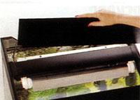 Аквариумная крышка с подвижным светильником